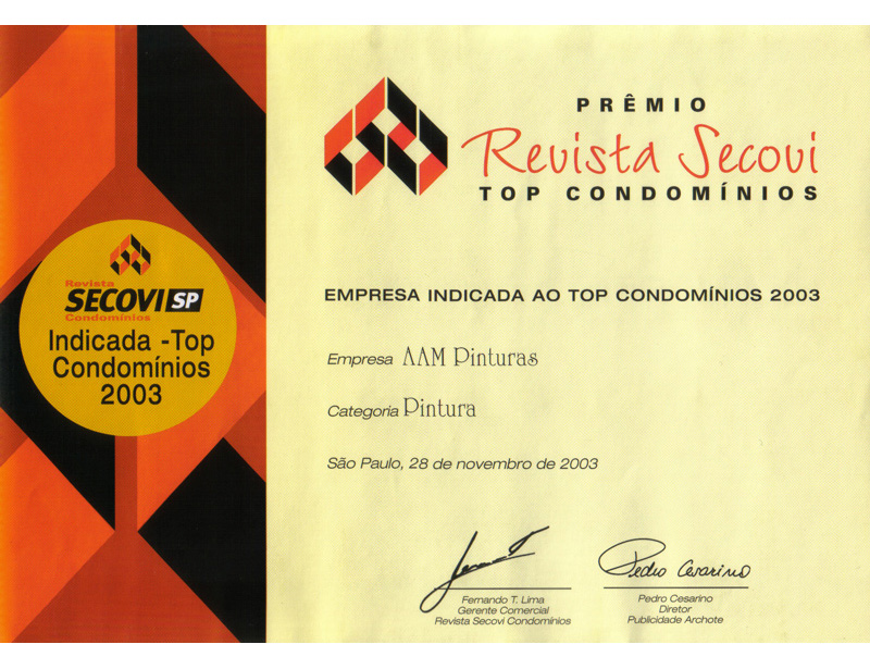AAM certificado Secovi